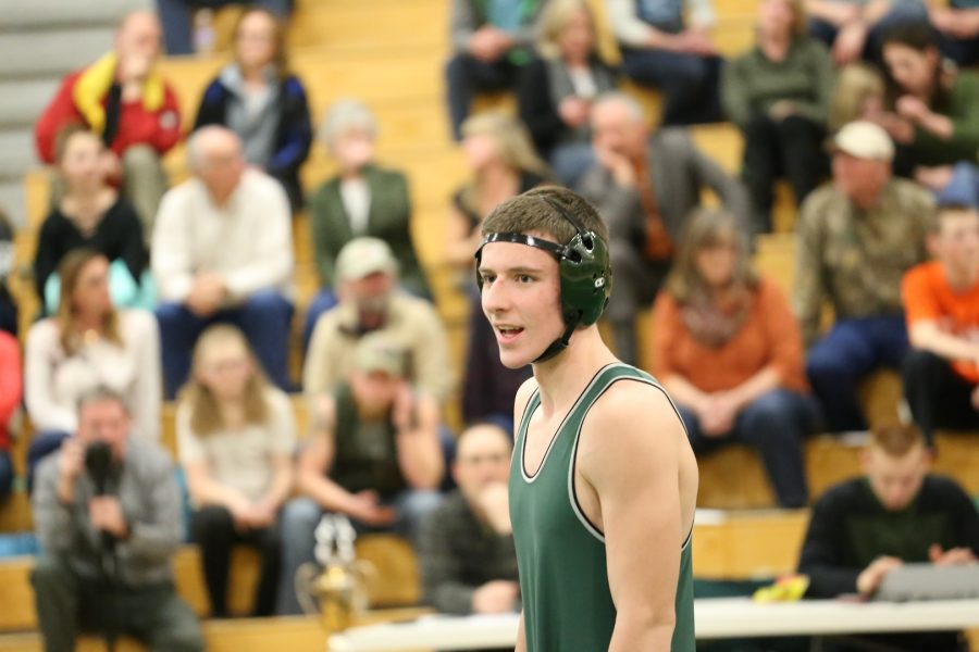 Senior+Connor+Wordworth+scored+the+winning+points+at+the+Evergreen+Dual+Match+on+Tuesday%2C+January+31.++His+win+clinched+the+PowerCup+for+the+Wrestling+team.