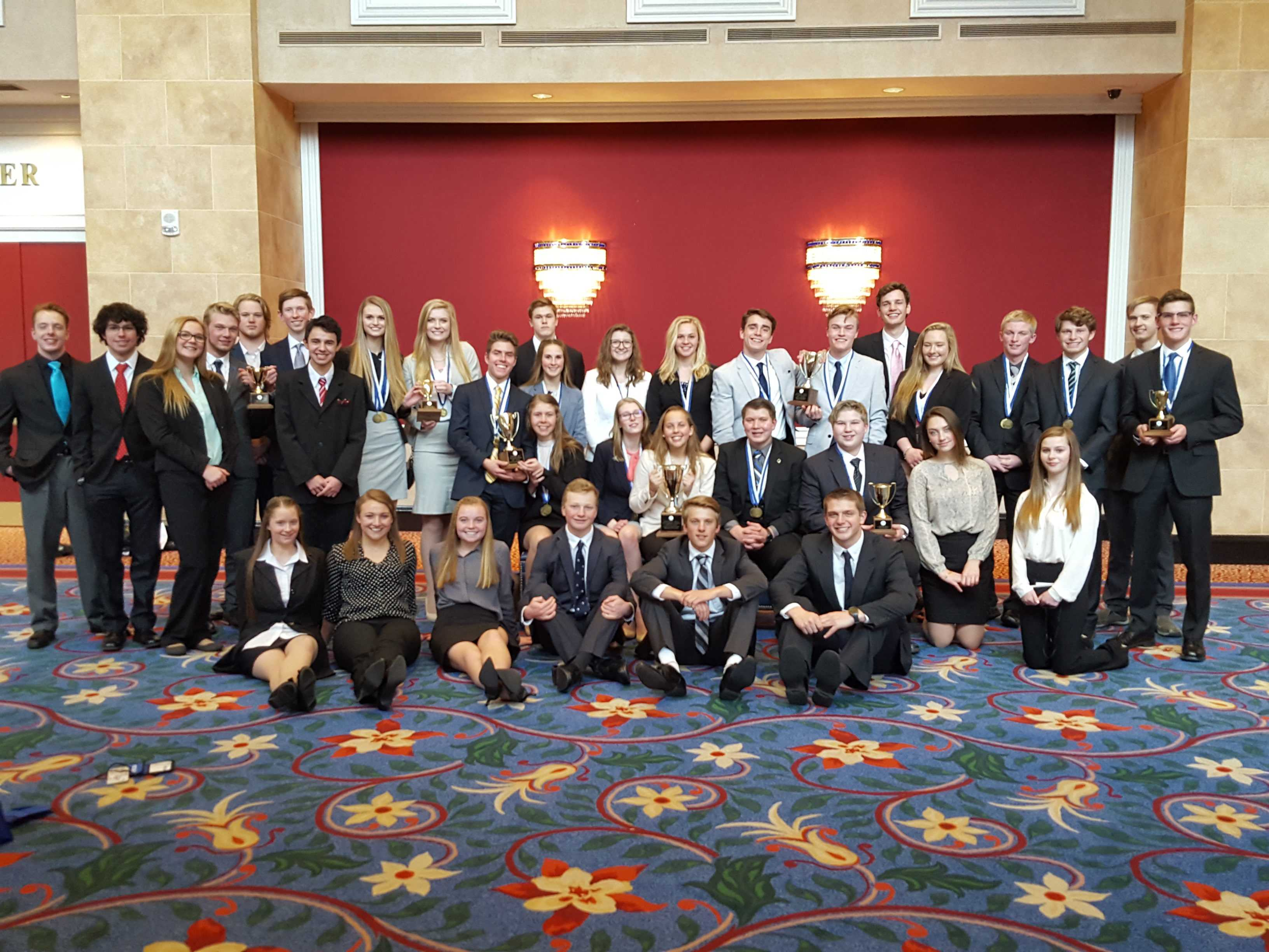 Conifer DECA students gathered at The Broadmoor Hotel in Colorado Springs in late February to compete at the annual State Leadership Conference.  Conifer students were very successful, qualifying 19 students for international competition.