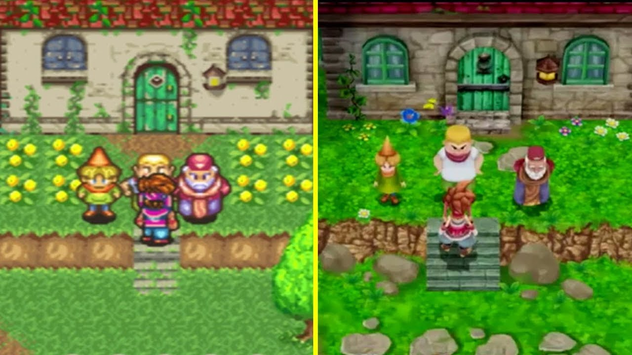 The 1993 game Secret of Mana side by side with its 2018 remake. Courtesy of YouTuber Cycu1