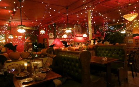 The inside of the Mercury Cafe features an enchanting blend of decor.
