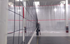 New curtains were installed at Juggernaut Volleyball Club to ensure social distancing