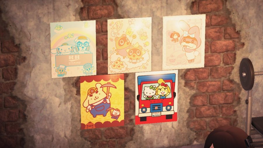 The Sanrio posters from the Nintendo x Sanrio 2016 amiibo cards