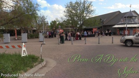 Wide shot of students arriving at the Denver Zoo for Prom on May 20, 2021.