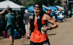 """Wageman resupplies at an aid station along the Leadville 100 course. """"The aid stations were amazing. Like, the most energy you've ever seen in your life, Wageman said."""